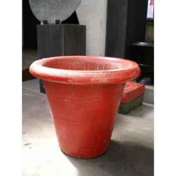 Pot droit rouge moyen V-CO-medium-R