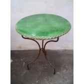 plateau de table rond vert 60 cm p d 60 v