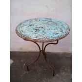 plateau de table rond turquoise60 cm p d 60 t