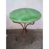 plateau de table rond vert 100 cm p d 100 v