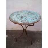 plateau de table rond turquoise 100 cm p d 100 t