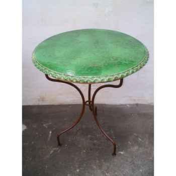 Plateau de table rond vert 120 cm P-D-120-V