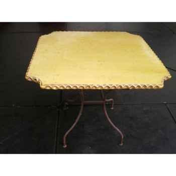 Plateau de table carré ivoire 90 cm P-C-90-I