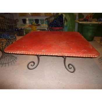 Plateau de table carré rouge 90 cm P-C-90-R
