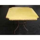 plateau de table carre ivoire 105 cm p c 105 i
