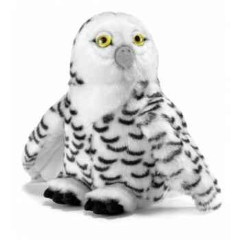 Peluche anima chouette des neiges (tête articulée) 25cmh ushuaia junior -104