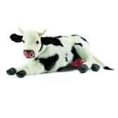 anima peluche vache couche noire et blanche 35 cm 4781