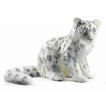 Peluche léopard des neiges assis 40cmh/45cml anima -4355