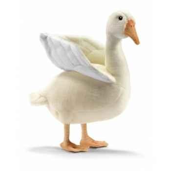 Peluche oie blanche 26cmh anima -4945