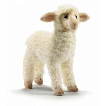 Peluche agneau à 4 pattes 28cml anima -5648