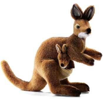 Anima - Peluche wallaby avec bébé 35 cm -2782
