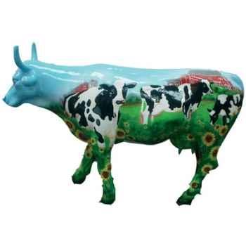 Cow Parade -West Hartford 2003, Artiste Mary Beth Whalen - Cow Barn-46336