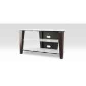 meubles hifi et video norstone century av design contemporain finition cuir pique etagere en verre laque blanc dim ext l1
