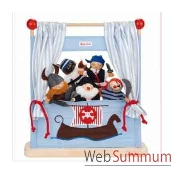 Théâtre bois fip pirate avec marionnettes kathe kruse 60487