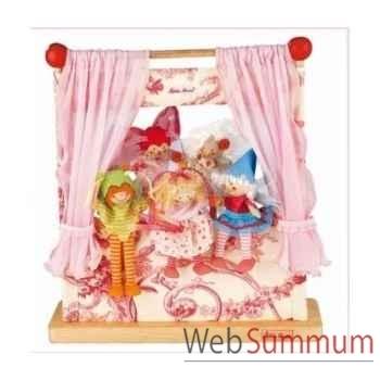 Théatre bois fip elfes avec 5 marionettes kathe kruse 60462