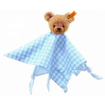 Peluche steiff ours dors bien doudou, bleu -237034