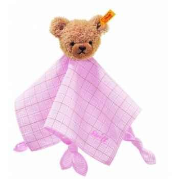 Peluche steiff ours dors bien doudou, rose -237133