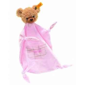 Peluche steiff ours dors bien doudou, rose -237140