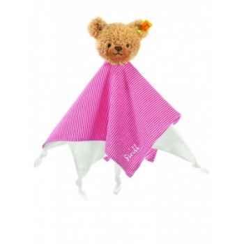 Peluche steiff ours dors bien doudou, rouge -237195
