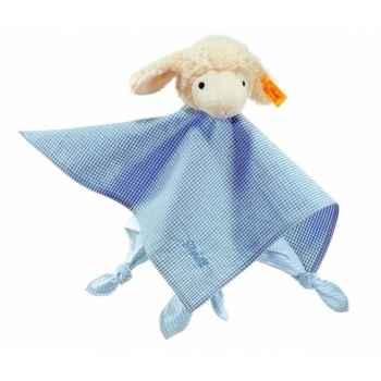 Peluche steiff agneau fais de beaux rêves doudou, bleu -237331