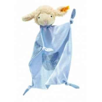 Peluche steiff agneau fais de beaux rêves doudou, bleu -237348