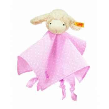 Peluche steiff agneau fais de beaux rêves doudou, rose -237430
