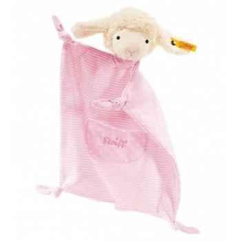Peluche steiff agneau fais de beaux rêves doudou, rose -237447