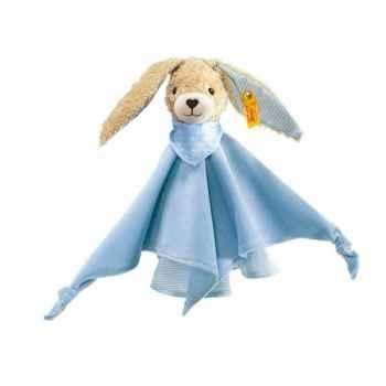 Peluche steiff lapin hoppel doudou, bleu -237478