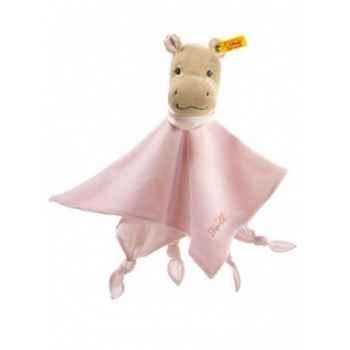Peluche steiff hippo mockyli doudou, rose -237812