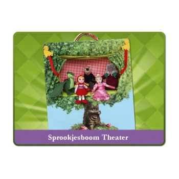 Théâtre de marionnette avec 5 marionnettes à doigt sprockjesboom e92900