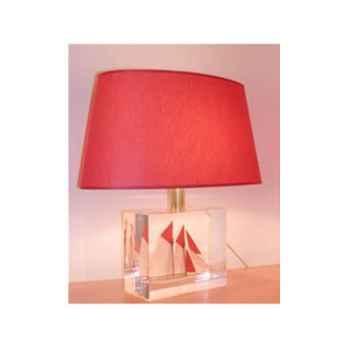 Moyenne Lampe Goélette Crème Abat-jour Trapèze Beige - 125-1