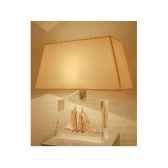 moyenne lampe goelette creme abat jour trapeze beige 125 2