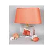 moyenne lampe ovale cancalaise rouge abat jour ovale rouge 121