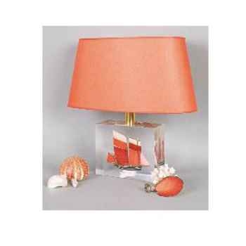 Moyenne Lampe Ovale Cancalaise Rouge Abat-jour Ovale Rouge-121