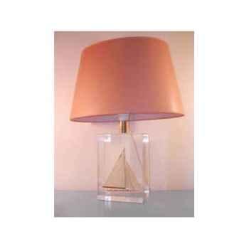 Moyenne Lampe Ovale Classe-J Beige Abat-jour Ovale Marron-123