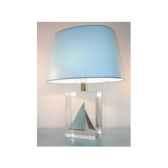 moyenne lampe ovale classe j bleu clair abat jour ovale bleu clair 124