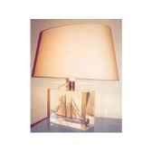 moyenne lampe ovale goelette beige abat jour ovale beige 125