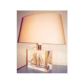 Moyenne Lampe Ovale Goelette Beige Abat-jour Ovale Beige-125