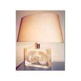 moyenne lampe ovale nautile nacre abat jour ovale beige 126