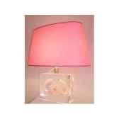 moyenne lampe ovale nautile nacre abat jour ovale rose 126 1