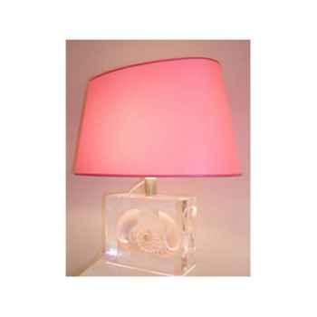 Moyenne Lampe Ovale Nautile Nacre Abat-jour Ovale Rose-126-1