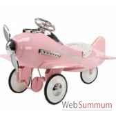 porteur avion en metaa pedales rose fanstasy af 001
