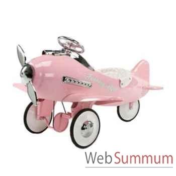 Porteur avion en métal à pédales rose fanstasy AF-001