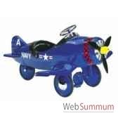 porteur avion en metaa pedales bleu corsair af 002