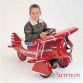 porteur avion en metaa pedales rouge baron bi plane af 003