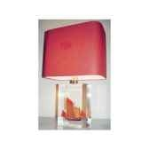 moyenne lampe rectangle chaloupe rouge can 23 abat jour rectangle rouge 128