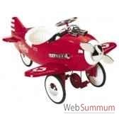 porteur avion en metaa pedales rouge sky king af 006