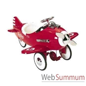 Porteur avion en métal à pédales rouge sky king AF-006