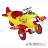 porteur avion a pedales rouge et jaune licence noddy af 009
