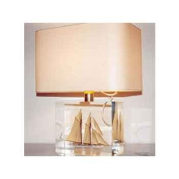 Moyenne Lampe Rectangle Goélette beige Abat-jour Rectangle Beige-131